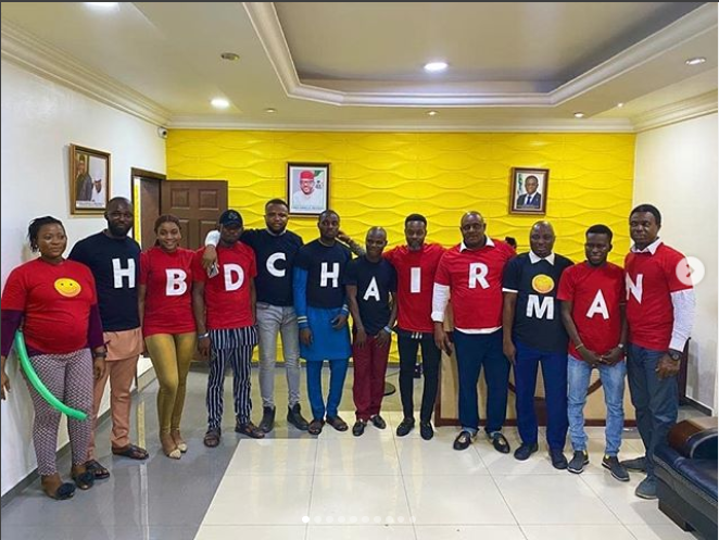 Five Star Group chairman, E-Money who turned a year older today February 18 gave out cars to his staff in celebration of his birthday.
