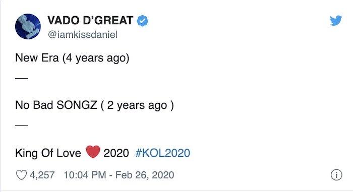"Kizz Daniel Set To Release New Studio Album Titled ""King Of Love"""