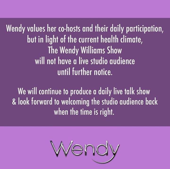 Wendy Williams Suspends Live Audience Recording Due To Coronavirus 3