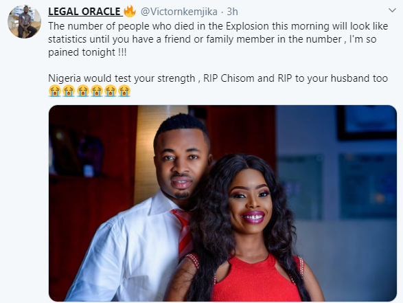 See Lovely Couple Who Reportedly Died In Abule Ado Explosion 1