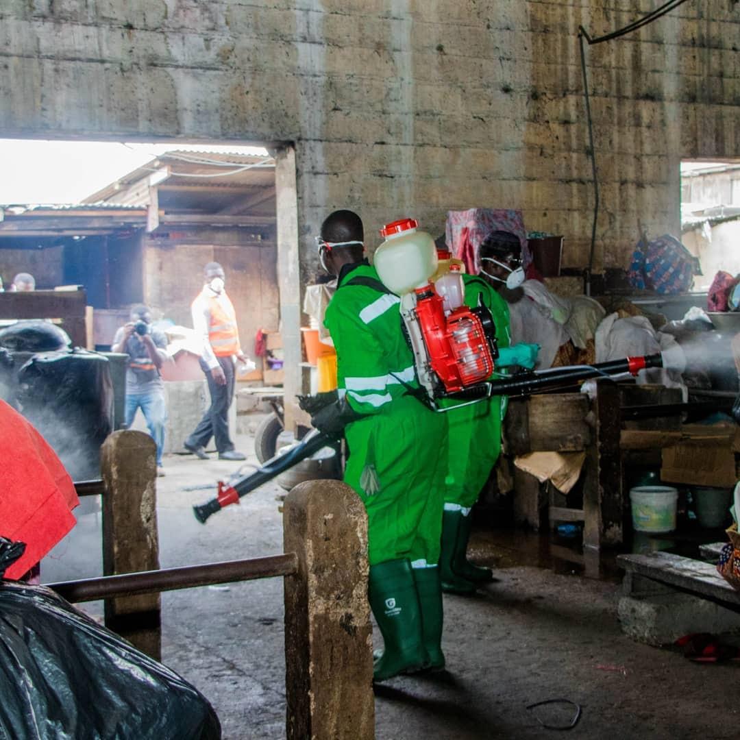 #COVIDー19: Ghana Fumigate Streets, Markets Over Coronavirus 5