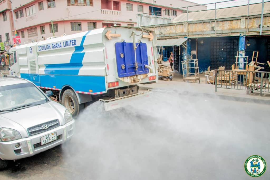 #COVIDー19: Ghana Fumigate Streets, Markets Over Coronavirus 2