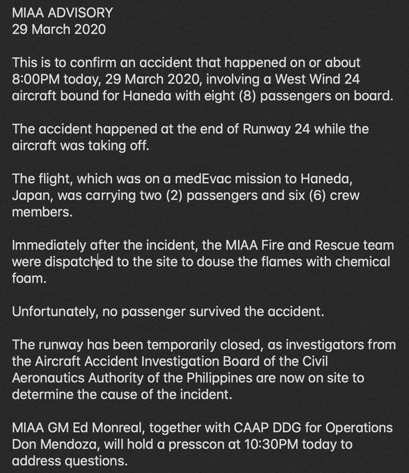Aeroplane Carrying Coronavirus Materials & Patient Crashes In Manila (Video) 3