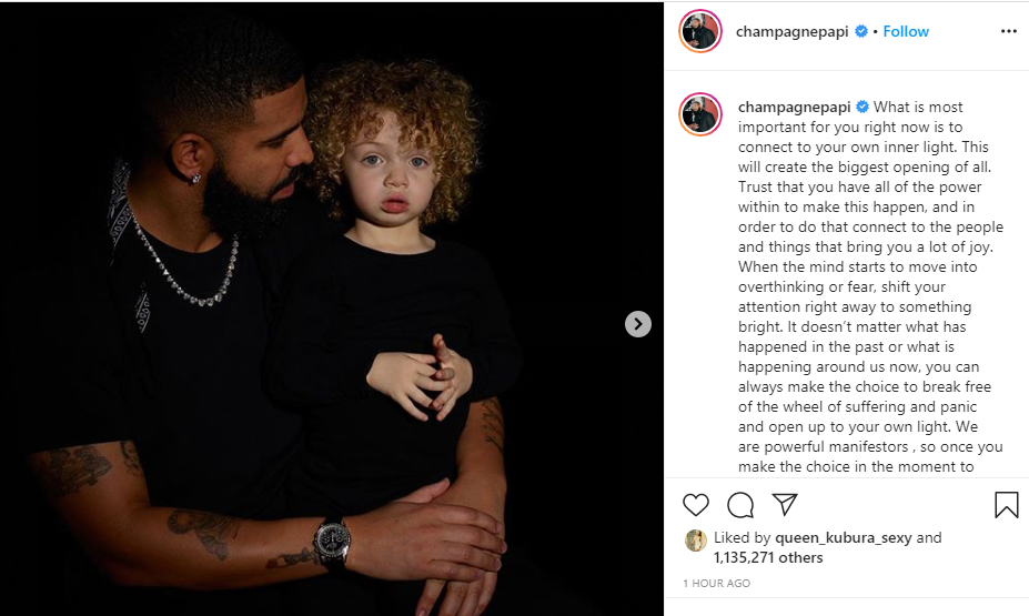 Drake Shares Lovely Photo With His Two-Year-Old Son, Adonis 12