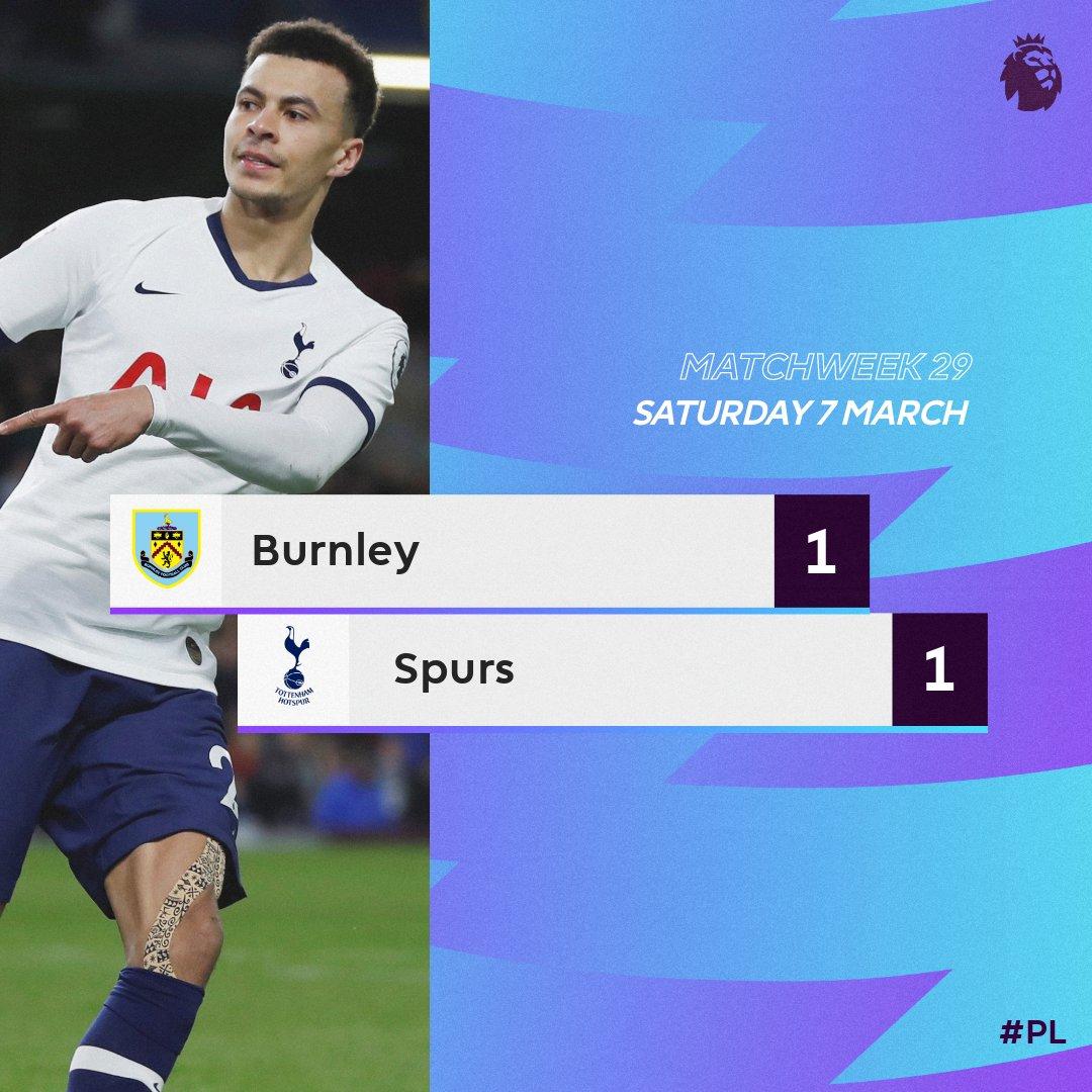 Burnley 1 – 1 Tottenham