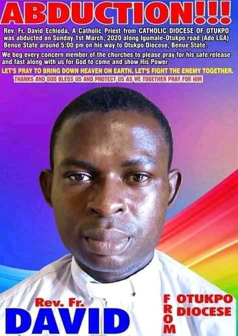 Catholic Priest Abducted By Gunmen In Benue