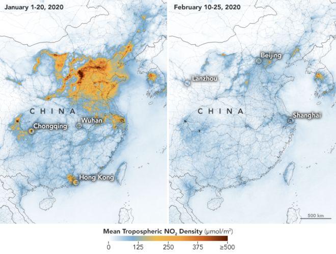 Coronavirus: China Pollution Suffer Rapid Decline