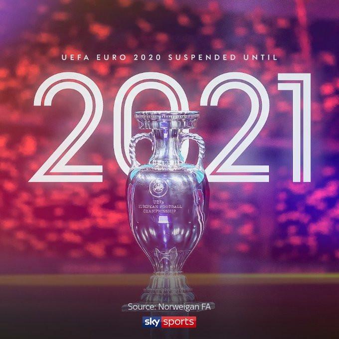 Coronavirus: Euro 2020 Postponed Until 2021