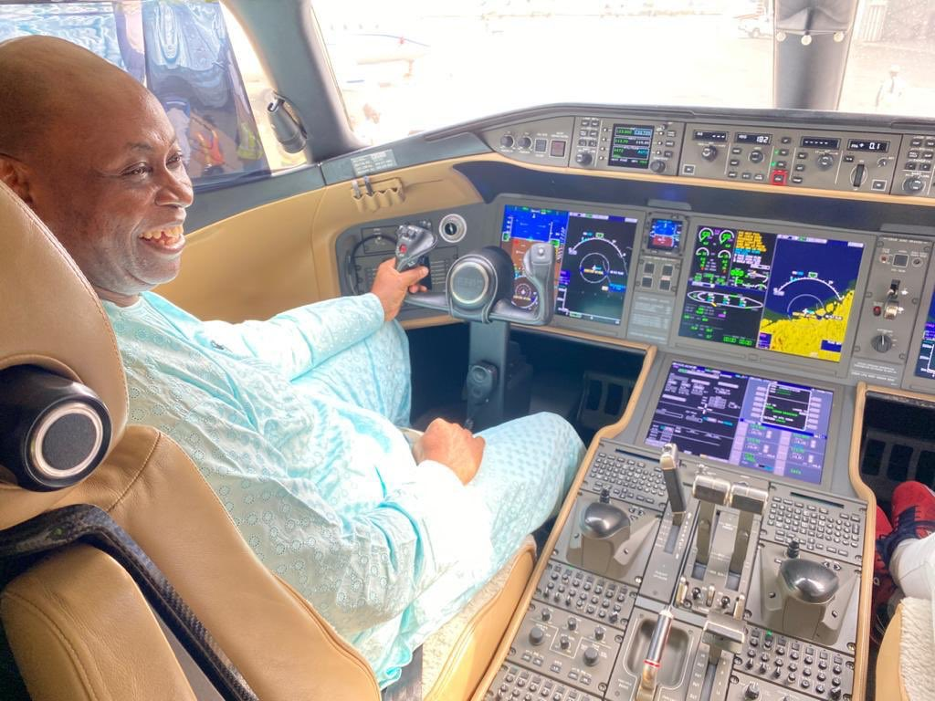 Davido's Father Acquires New Private Jet (Photo)