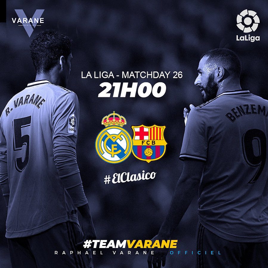 #ElClasico: Real Madrid And Barcelona Releases Squad