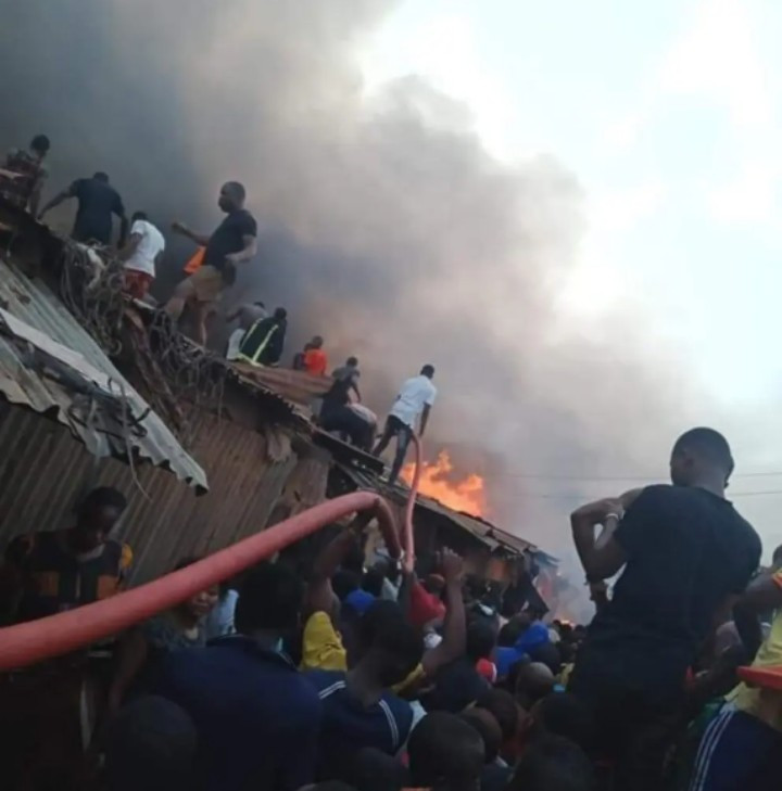 Fire Damages Otukpo Main Market In Benue (Photos/Videos)