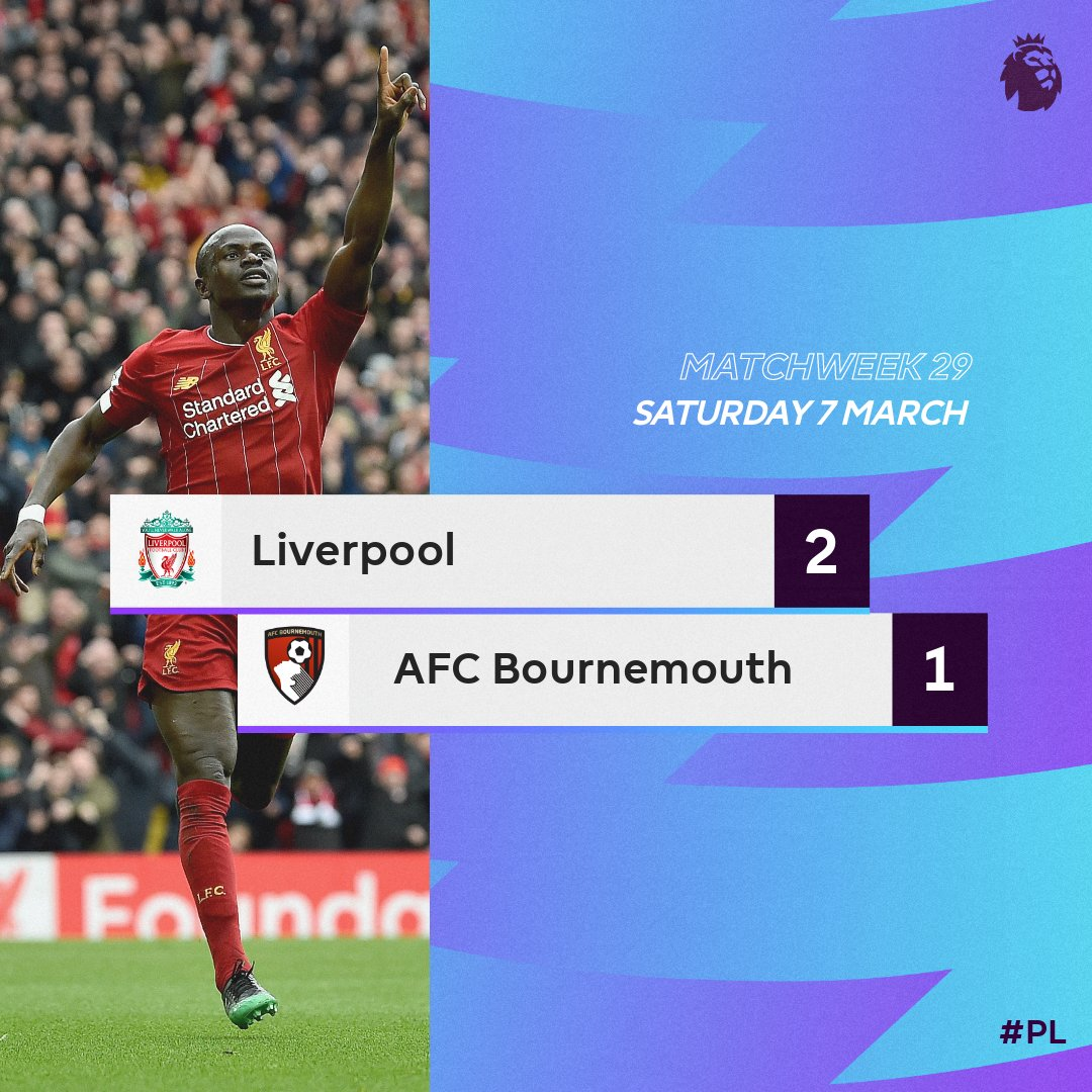 Liverpool 2 – 1 Bournemouth Premier League Highlight Mp4 Download
