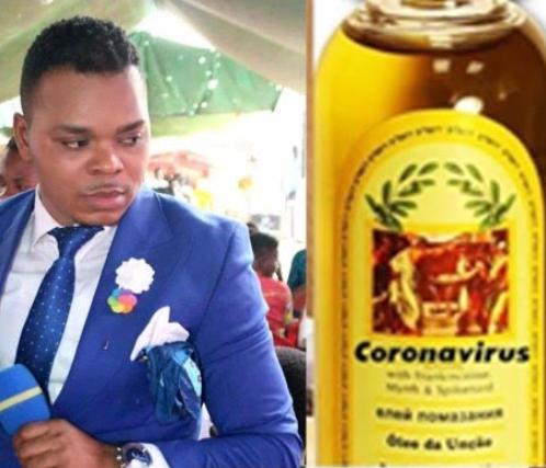 Meet Ghanaian Pastor Selling Coronavirus Anointing Oil To His Members For N13,000