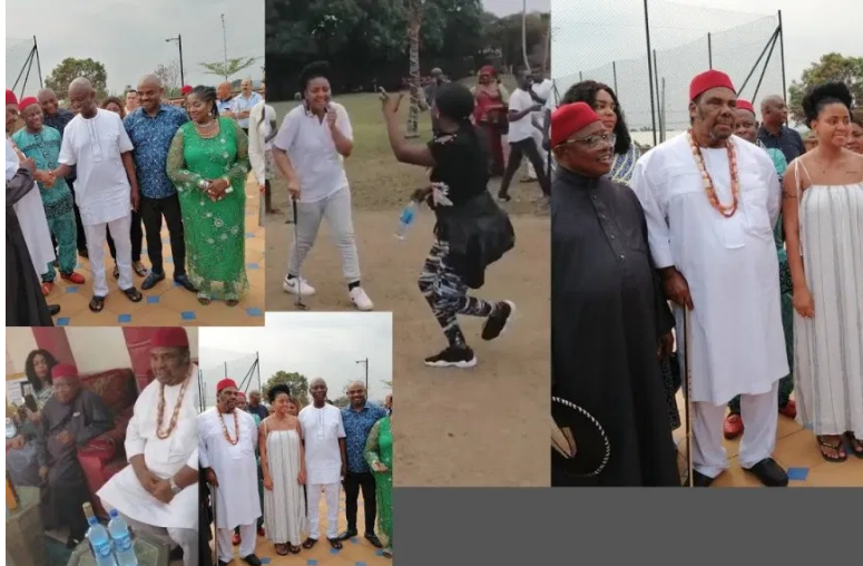 Ned Nwoko And Regina Daniels Throws Surprise Birthday Party For Pete Edochie (Photos)