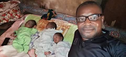 Palmwine Tapper And Wife Welcomes Triplets In Anambra (Photos) 1