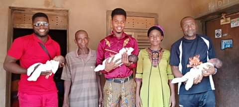 Palmwine Tapper And Wife Welcomes Triplets In Anambra (Photos)