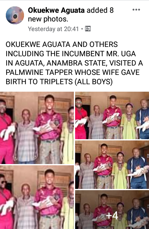 Palmwine Tapper And Wife Welcomes Triplets In Anambra (Photos) 2