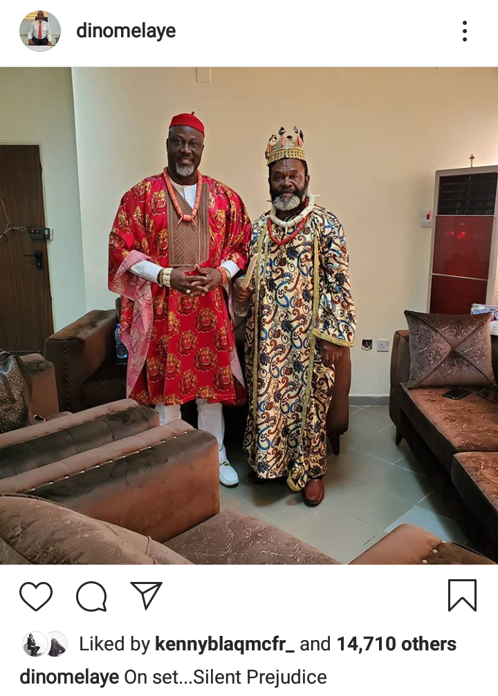 "Dino Melaye Makes Nollywood Debut, On Set For ""Silent Prejustice"""
