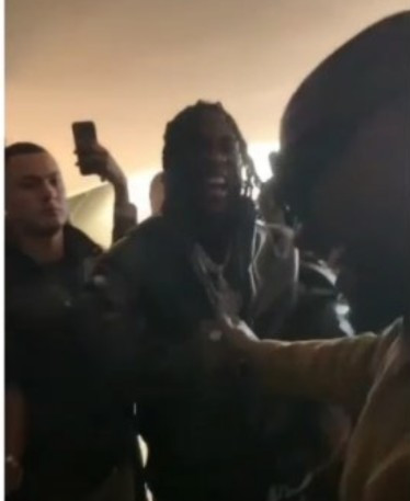 See Moment Kanye West Met Burna Boy At Yeezy's Fashion Show (Video)