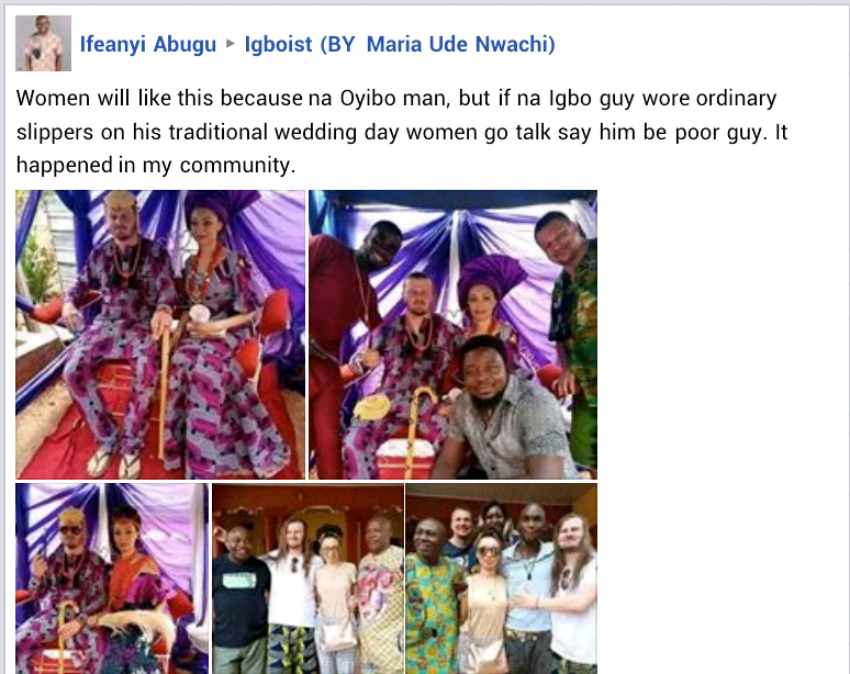 White Man Rocks Slippers To His Traditional Wedding To Igbo Lady In Enugu (Photos) 12