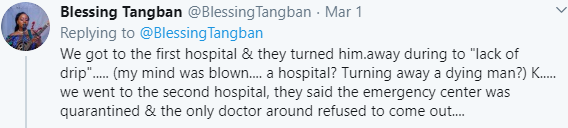 Lady Shares Her Sad Experience At Different Hospitals Where She Rushed A Dying Man To In Abuja 10