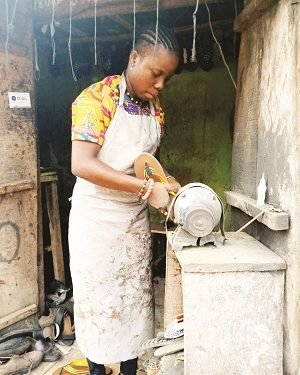 22-Year-Old Lady Reveals Why She Dumped School To Become A Shoe Maker