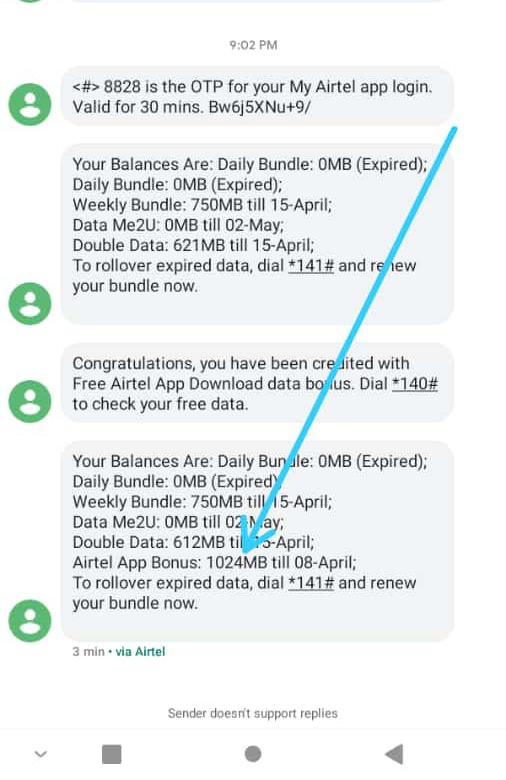 How To Get Free 1GB On Airtel 9
