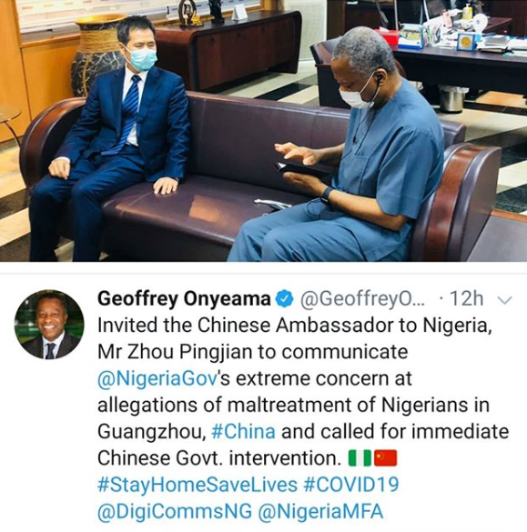 FG Summons Chinese Ambassador Over Nigerians' Maltreatment In China