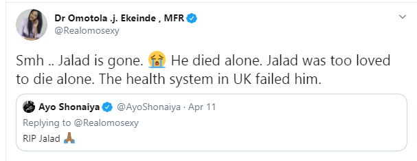 UK Health System Failed My Cousin Who Died Amid The Coronavirus Pandemic - Omotola Jalade-Ekeinde