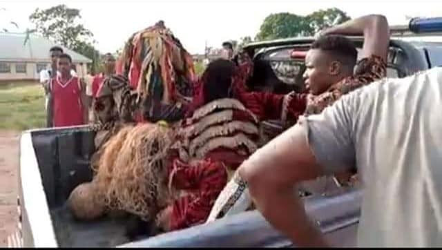Masquerades arrested in Anambra for defying stay-at-home order (photos/video)
