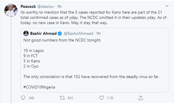 Kano State Governor's Aide Accuses NCDC Of Giving Wrong Coronavirus Update