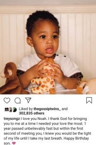 Trey Songz celebrates his son as he turns one 9