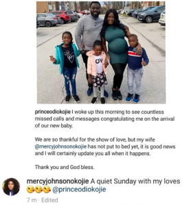 Mercy Johnson's hubby, Prince Odi Okojie, debunks rumors she has welcomed their 4th child 6