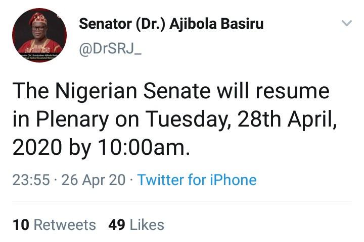 Nigeria's House of Representatives Plenary Resumes On Tuesday