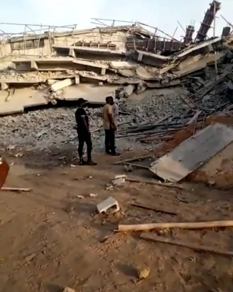 Many Feared Dead As 8-Storey Building Under Construction Collapses In Imo (Photos) 18