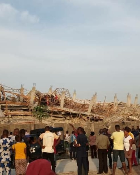 Many Feared Dead As 8-Storey Building Under Construction Collapses In Imo (Photos) 19