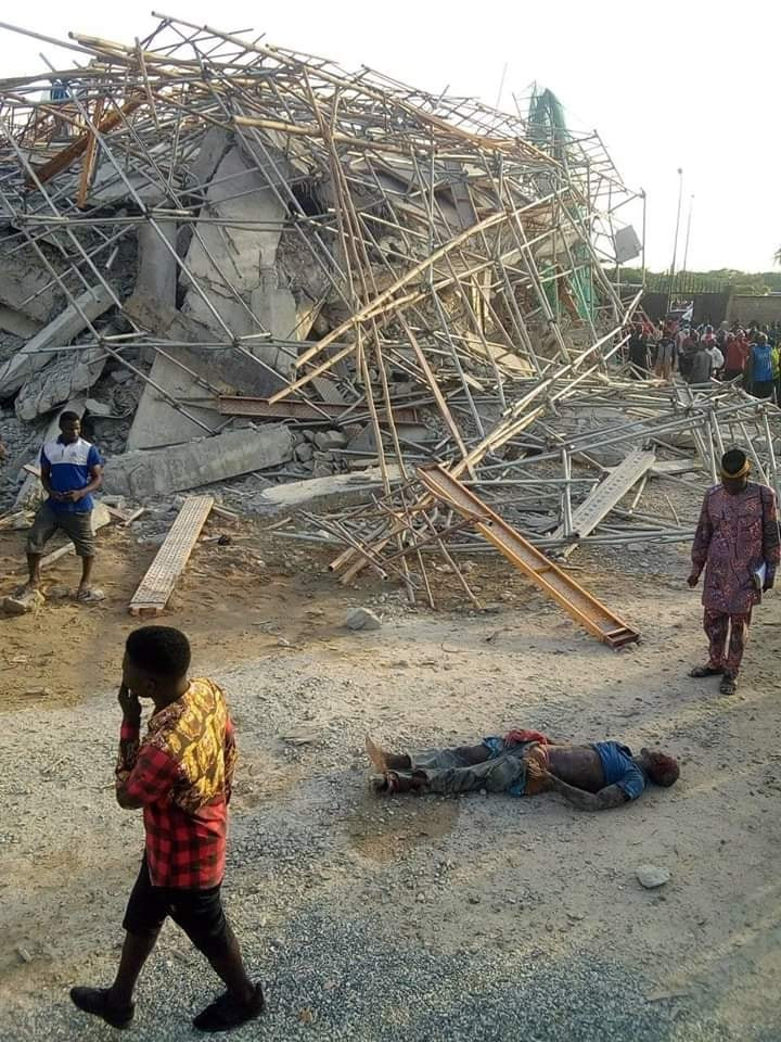 Many Feared Dead As 8-Storey Building Under Construction Collapses In Imo (Photos) 21