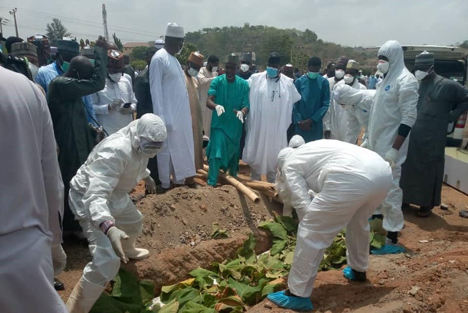 Photos From Former Chief of Staff to President Buhari, Abba Kyari's Burial 16