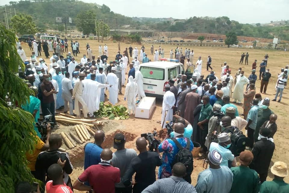 Photos From Former Chief of Staff to President Buhari, Abba Kyari's Burial 17