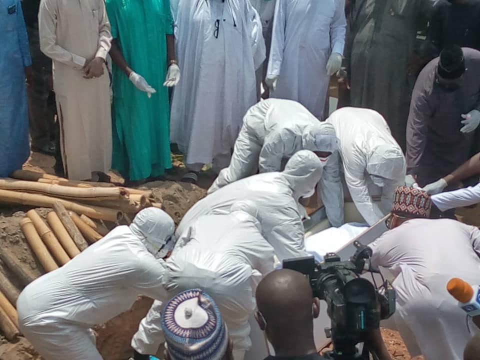 Photos From Former Chief of Staff to President Buhari, Abba Kyari's Burial 19