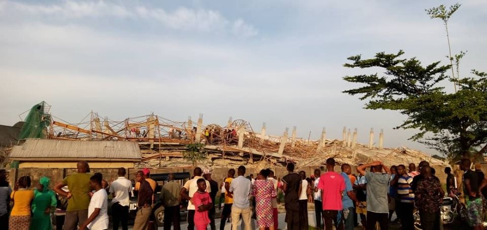 Many Feared Dead As 8-Storey Building Under Construction Collapses In Imo (Photos) 16