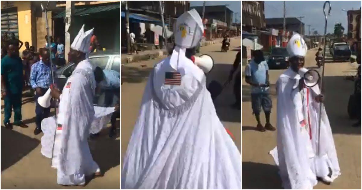 Archbishop Samson Mustapha Benjamin Stages Protest Against 5G Network (Video)