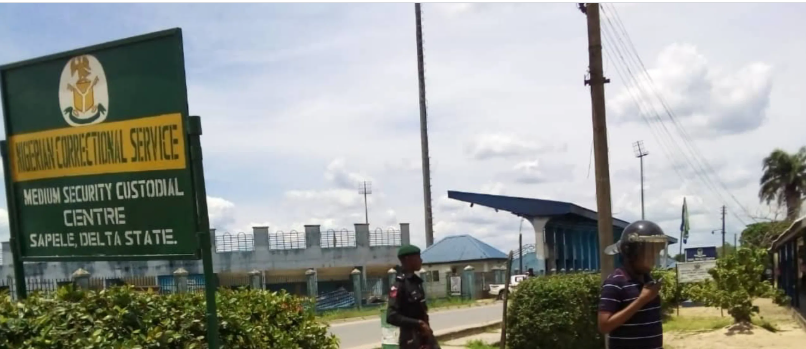 Prison Break At Sapele Prison Today; 2 Inmates Escape, Others Shot