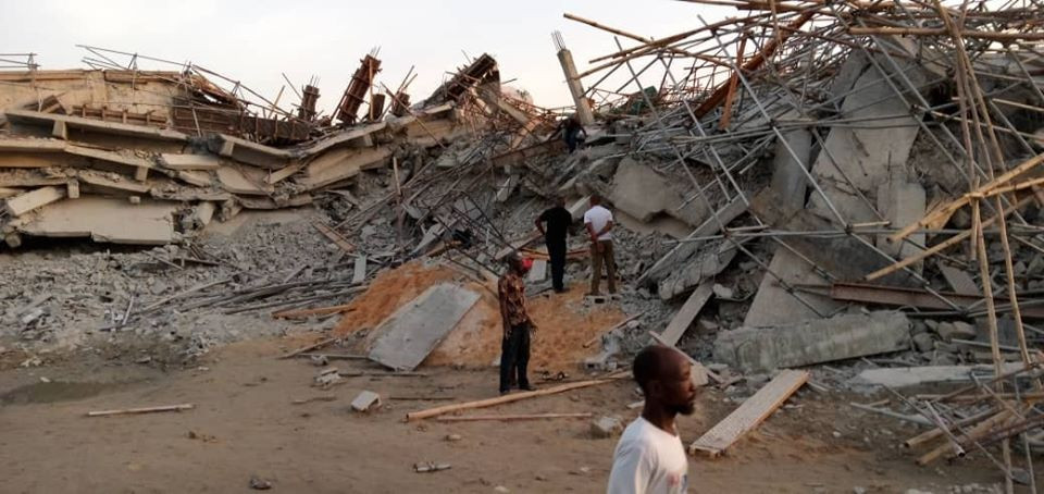Many Dead As 8-Storey Building Under Construction Collapses In Imo (Photos)