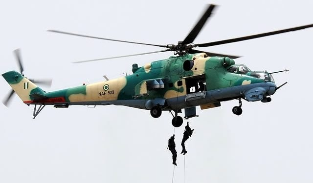 Many Killed As NAF Helicopter Bombards Bandits Hideouts In Niger