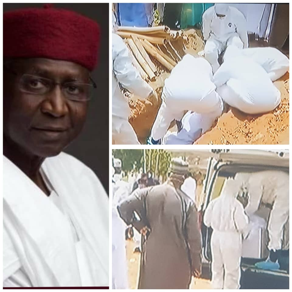 Photos From Former Chief of Staff to President Buhari, Abba Kyari's Burial