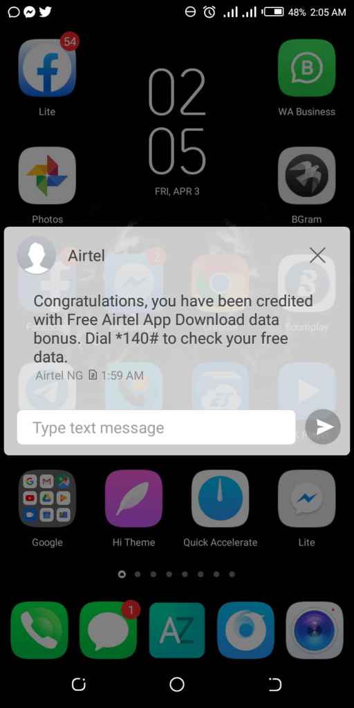 How To Get Free 1GB On Airtel 8