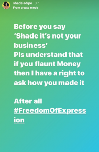 If you flaunt money, I have the right to ask how you made it -media personality, Shade Ladipo 28