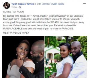 Nigerian woman dies on her first wedding anniversary 9