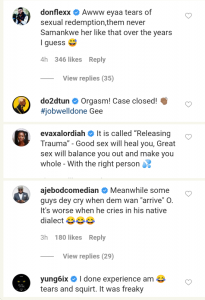 Donjazzy, Dotun, & Others Reacts To Viral Video Of Lady Seen Crying During S*x 12